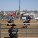 Adam Mueller at the Dickinson State University college rodeo